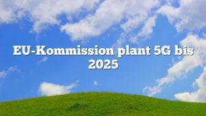 EU-Kommission plant 5G bis 2025
